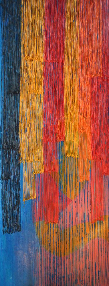 Sacred Threads,2011, Acrylic on canvas, 58 x 22 inches