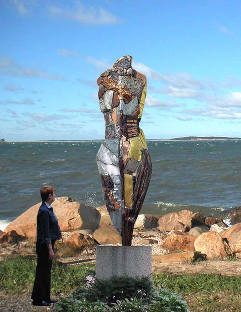 Knight of Tomorrow 582 , 2005, Bronze, 105 x 32 x 12 inches