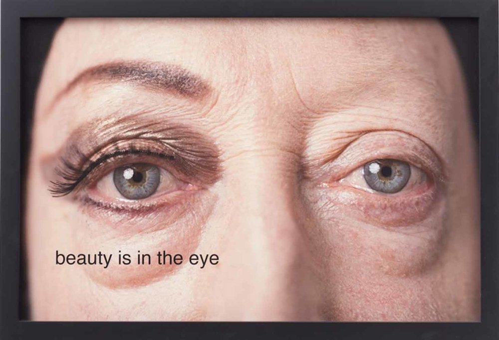 beauty is in the eye, 2014, Pigmented ink print on canson rag photgraphique makeup by Melissa Roth, photograph by Michael Katchen, 16 x 24 inches
