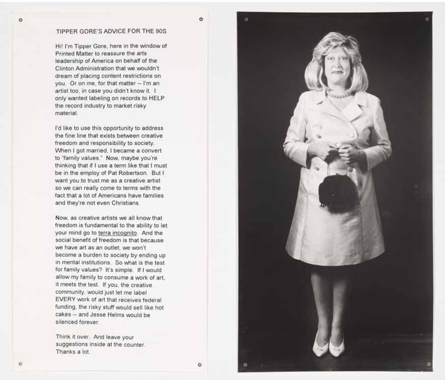 Tipper Gore's Advice for the 90s , 1994, Black and white Photostat, 71 x 39 inches