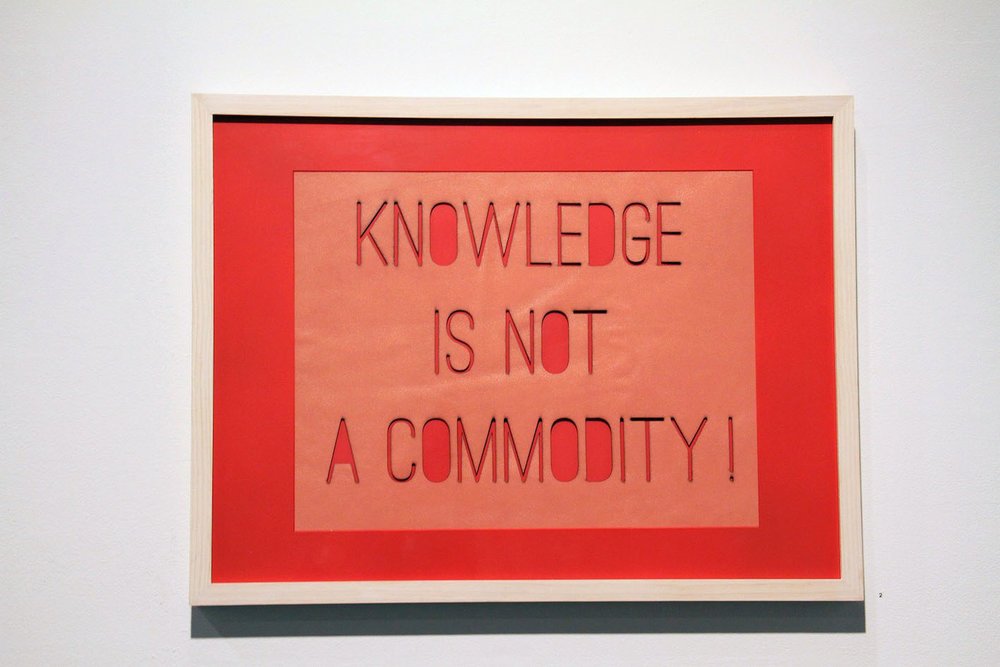 Knowledge,  2014, Laser-cut Leather, 18 x 24 inches