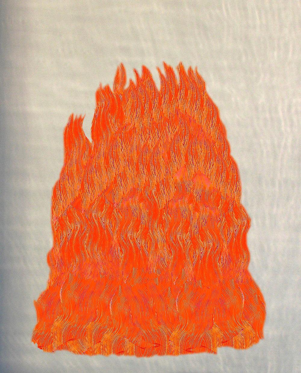 Ann Pachner,  Heart Fire,  2014, Pigment print, 22 x 17 inches