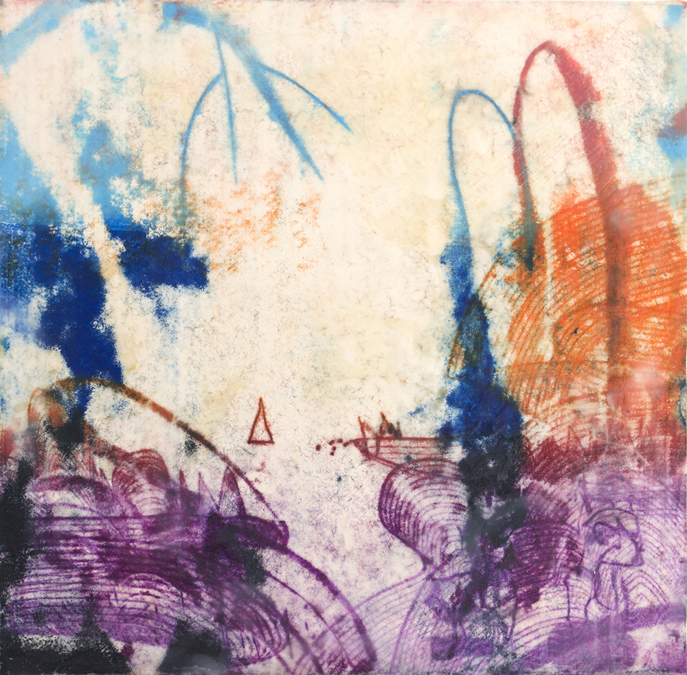 Long Sound Series #4 , 2015, encaustic on panel, 10 x 10 inches