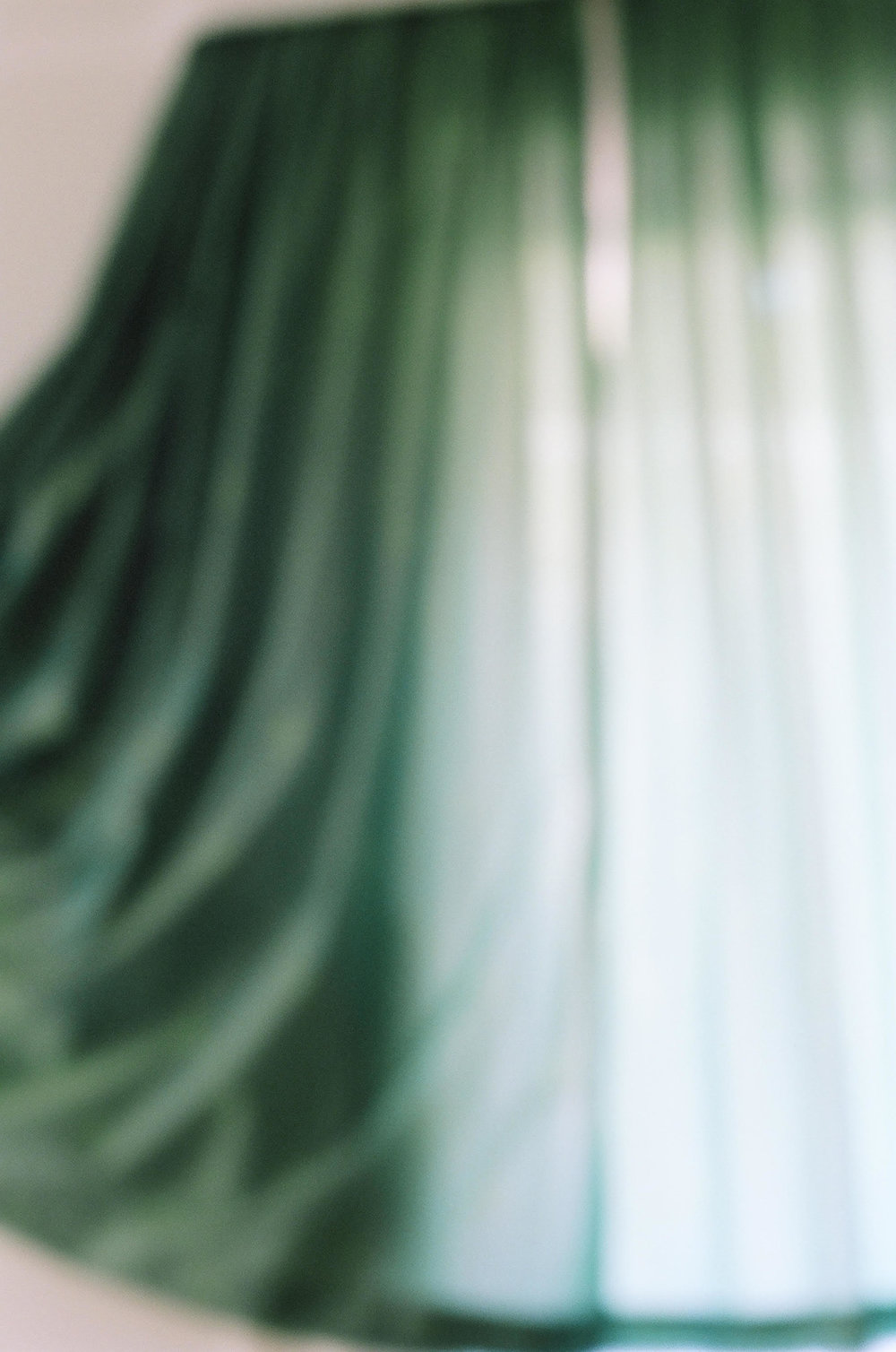 Maxine Henryson, June breeze in green curtain, Naples, Italy, 2012, Archival pigment print, 54 x 36 inches