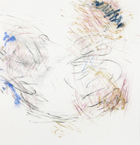 Even , 2017, Pastel, pastel pencil on Bristol paper, 19 x 19 inches