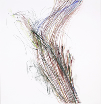 Duet , 2017, Pastel, pastel pencil on Bristol paper, 19 x 19 inches