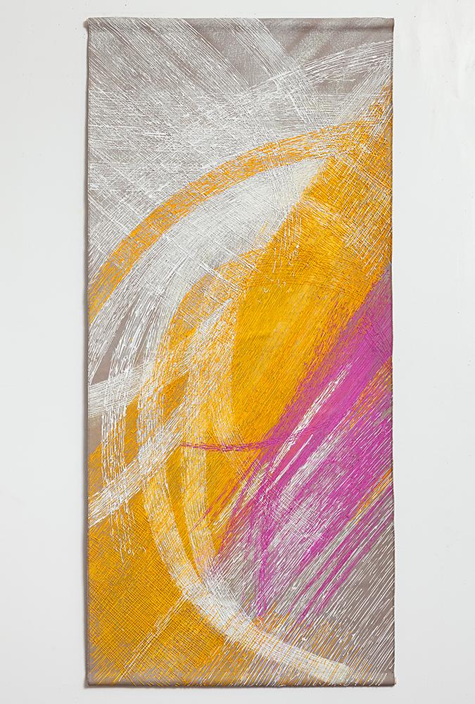 """Chanchalam , 2016,Acrylic on linen, 68"""" x 32"""""""