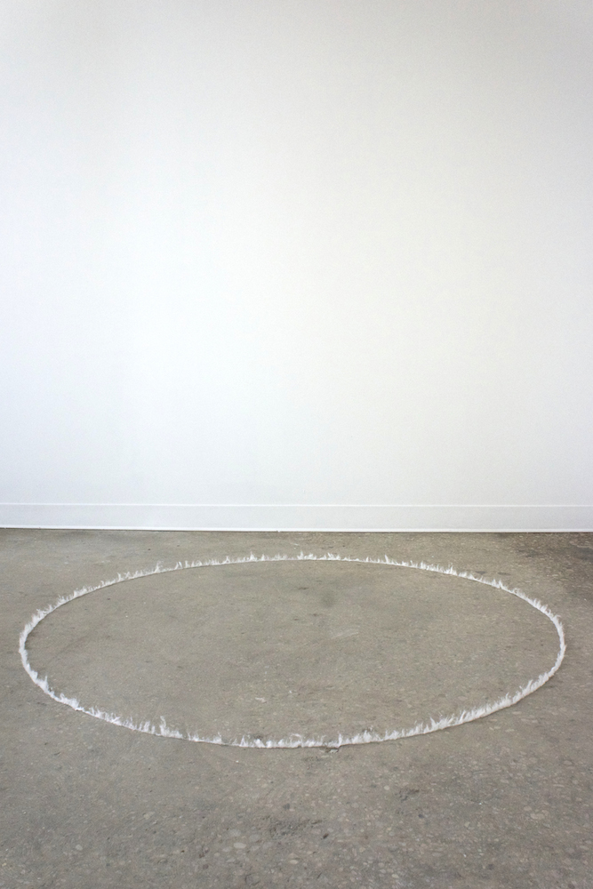 ring of fire , 2014, cotton, glue, dimensions variable