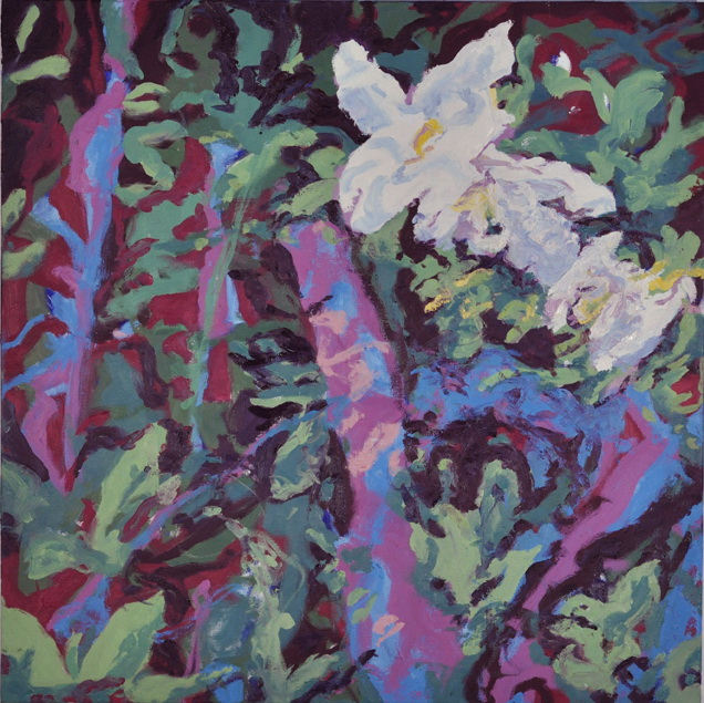 New Growth #2,  2017, oil on canvas, 30 x 30 inches