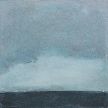 Boulogne sur Mer,  2016, Wax encaustic and pigment on panel, 16 x 16 inches