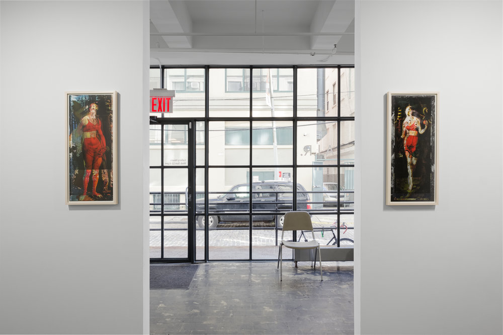 "Daria Dorosh,  Red Corset of Constraint #1,  2017, digital print, 30""x14"" and  Red Corset of Constraint #2,  2017, digital print, 30""x14""."