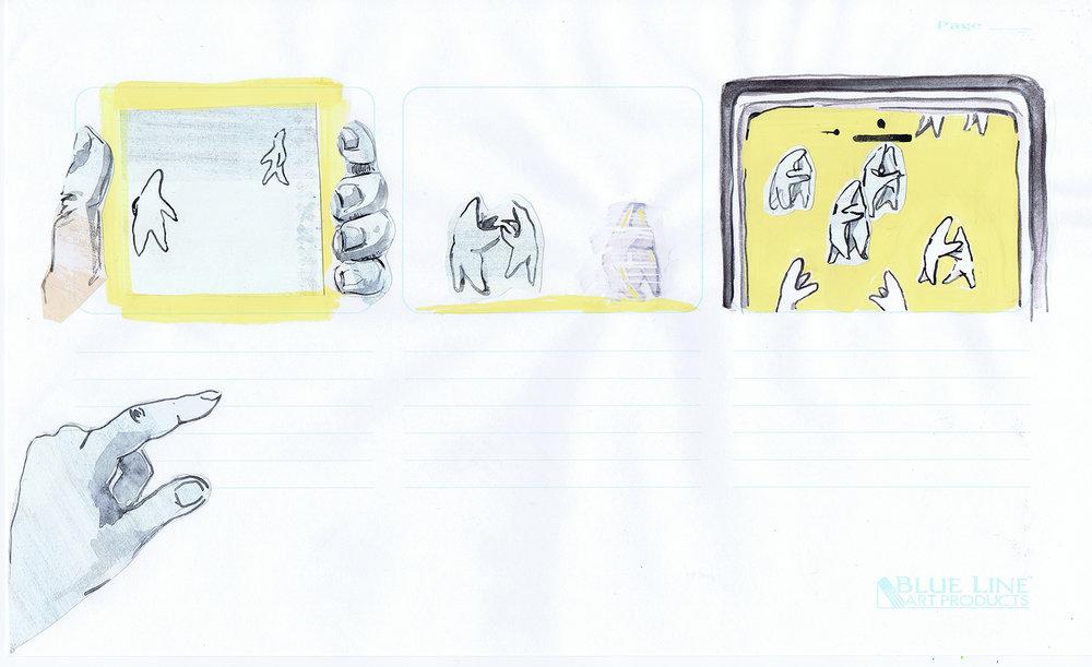 Storyboard for  Big Bang , 2017
