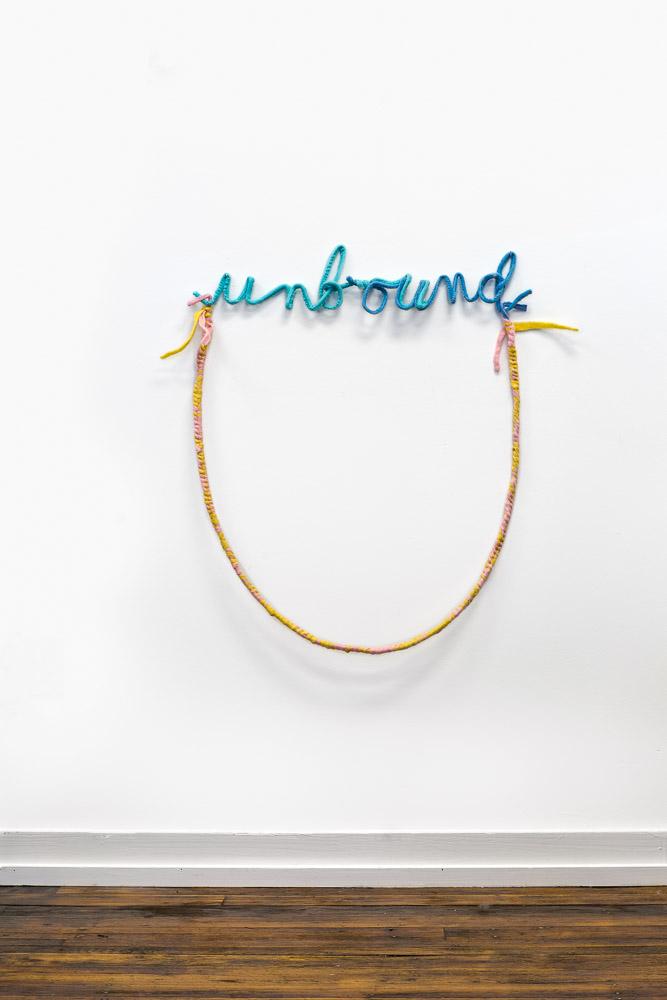 """Unbound ,   2018, wool felt, wire, 26"""" x 30"""" x 3"""""""