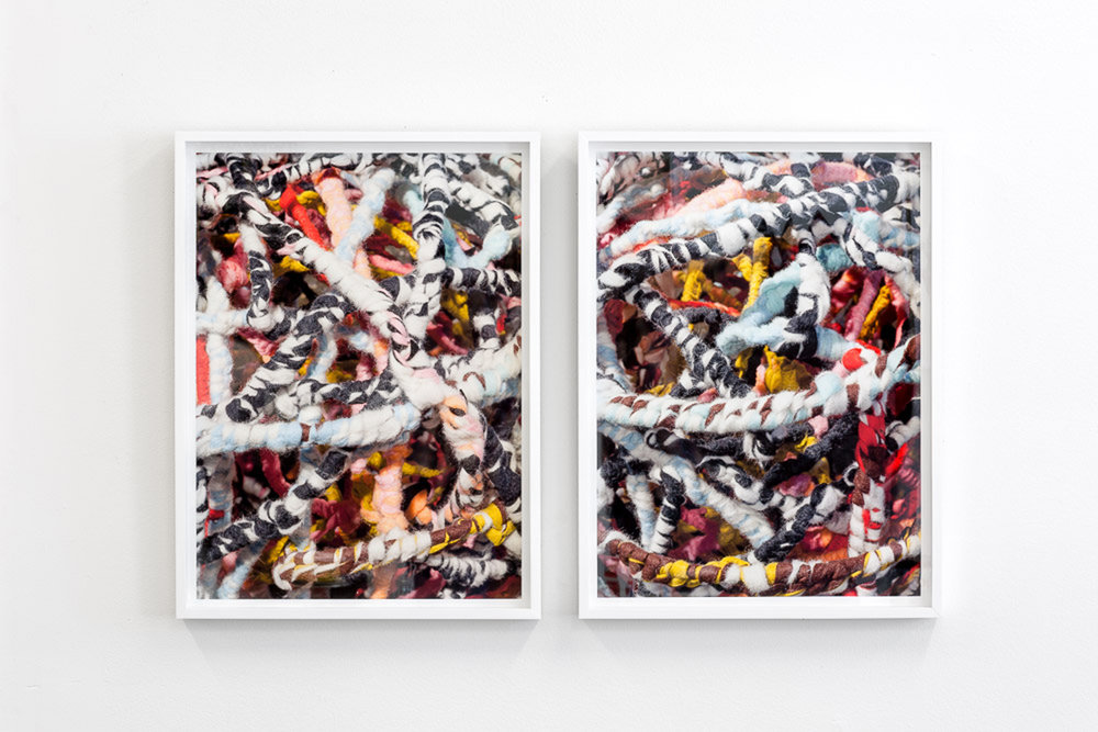 """Tangle  and  Tangle II , 2017, archival pigment prints, 24"""" x 18"""" each"""