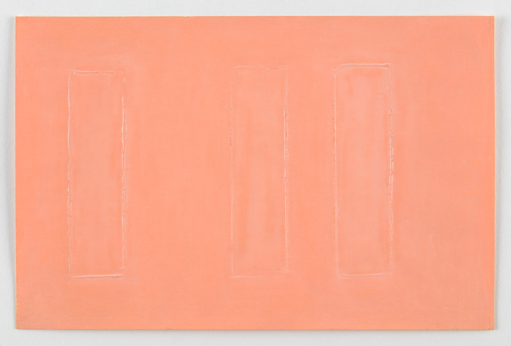 Untitled, Flesh , 1967   *Study for a large acrylic painting Flesh 1 of 1967.  Oil-wax chalk on paper.   6 x 9 inches