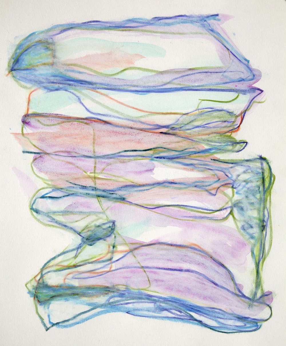 Untitled 3 , 2007  Watercolor, oil-wax chalk on paper