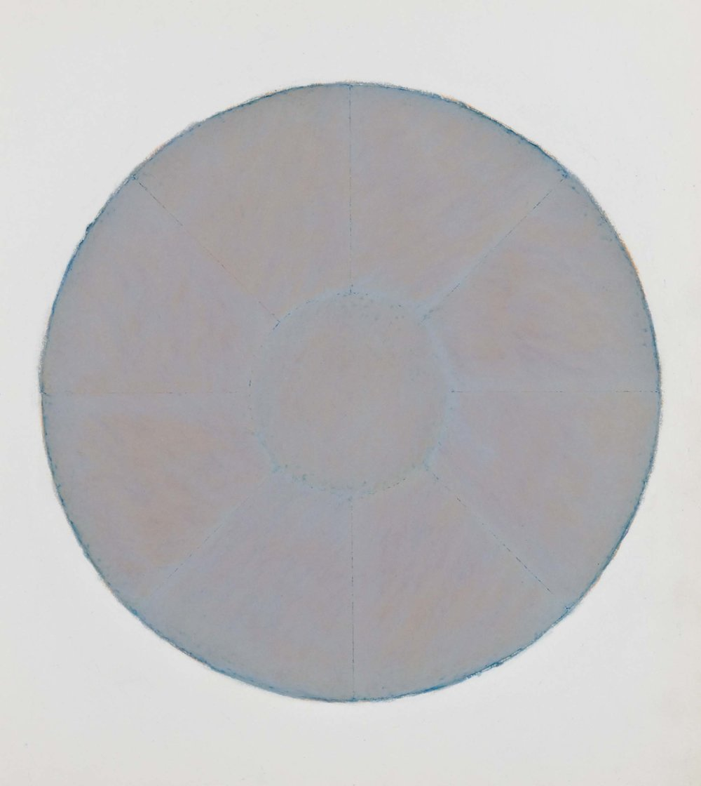"Naoussa, 1973  14.5x12.5""  Oil wax chalk on paper"