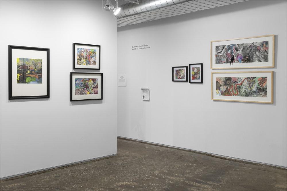 Works by Kristen Franyutti installation shot