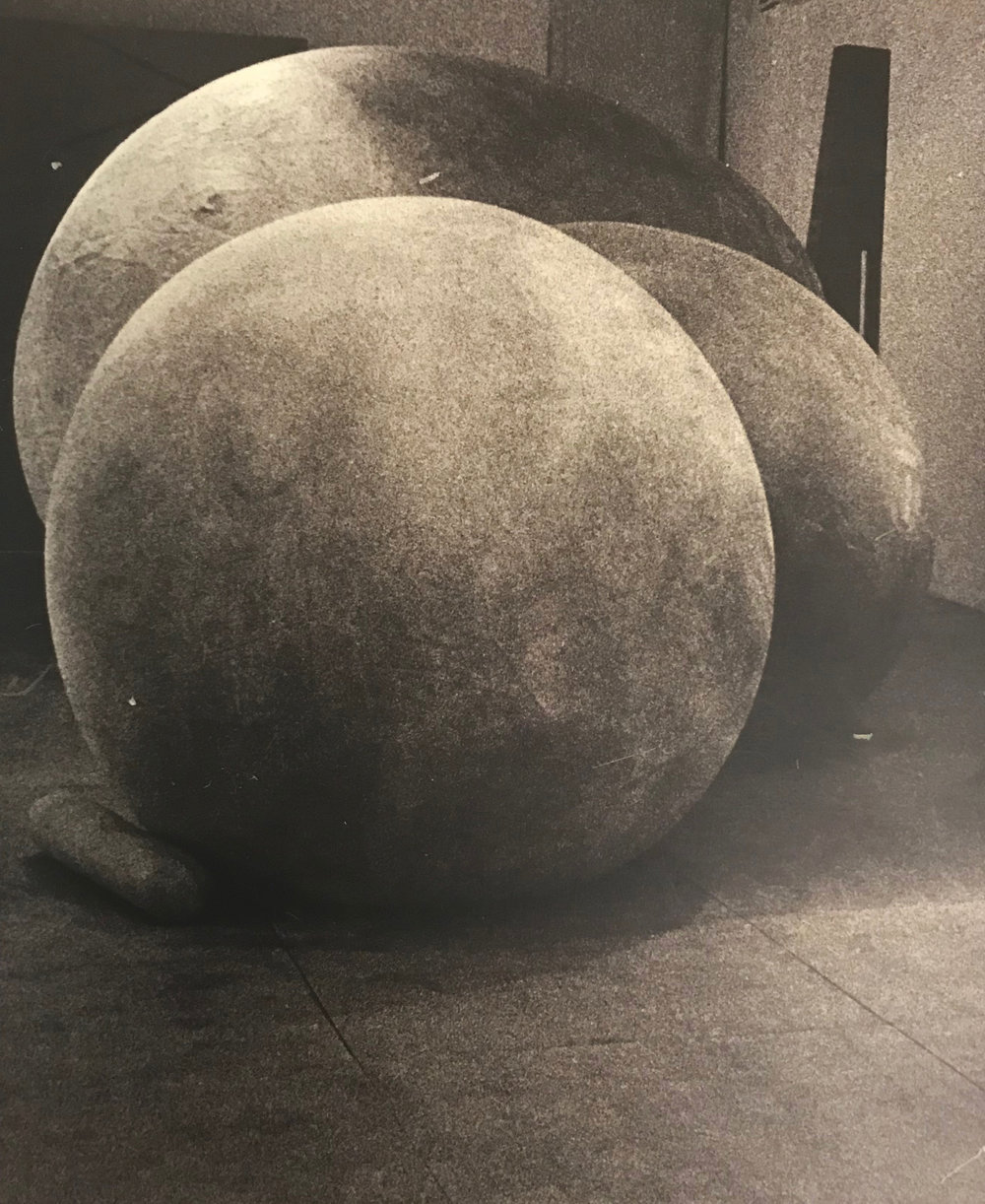 "Untitled , 1975  Inflated latex  14""x19""x45"""