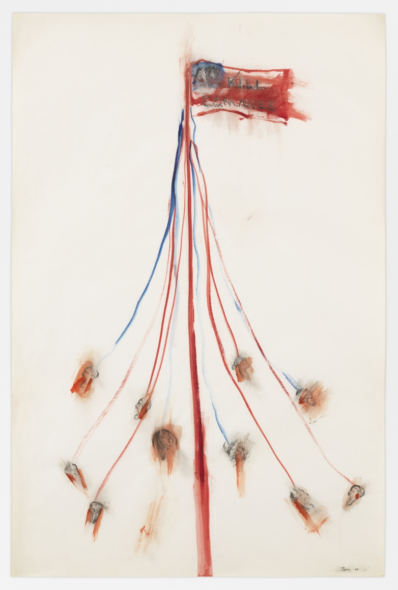Kill Commies/Maypole , 1976  Gouache and ink on paper