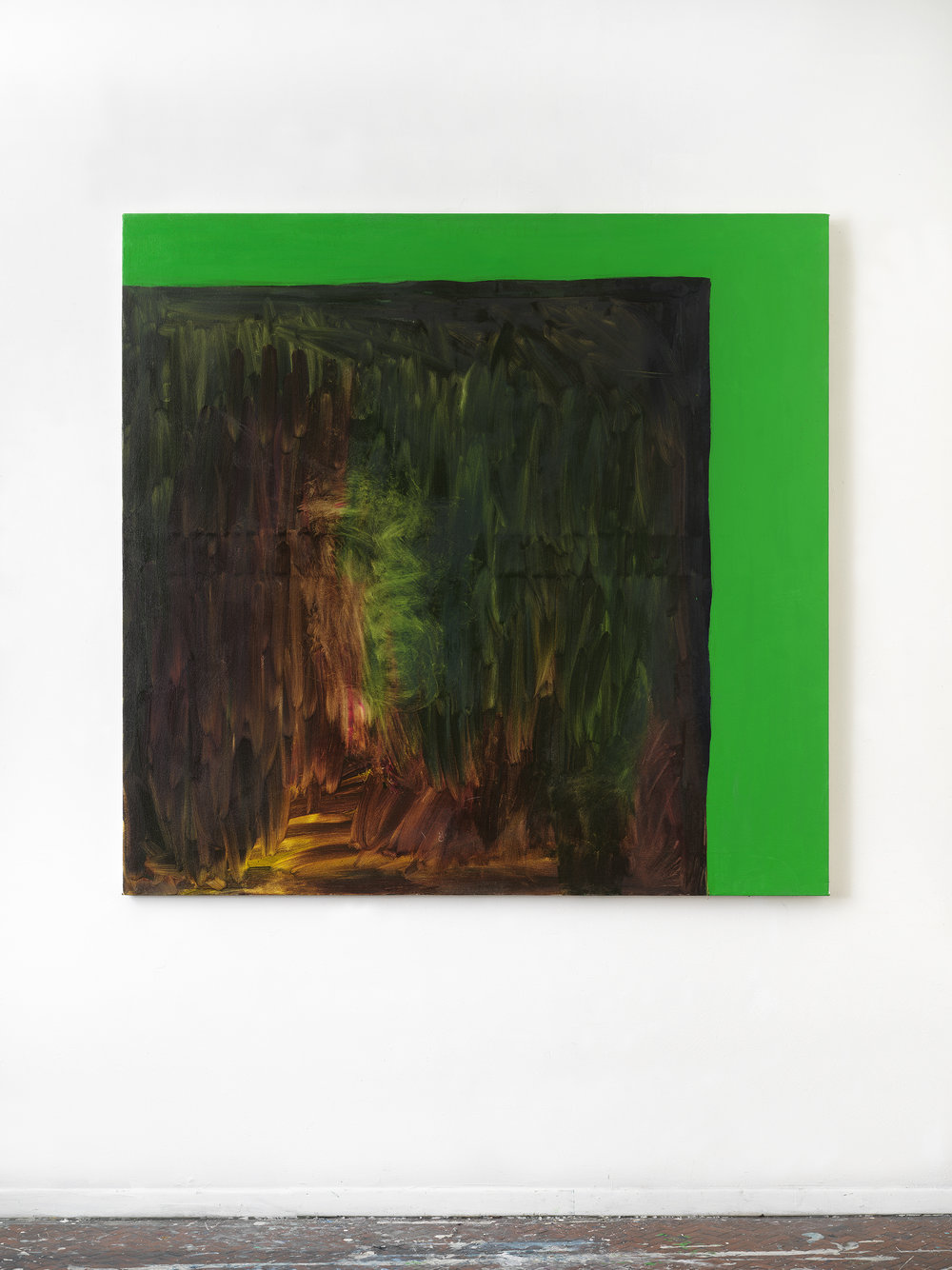Green Screen #3 , 2018 54 x 56 inches, Oil on canvas