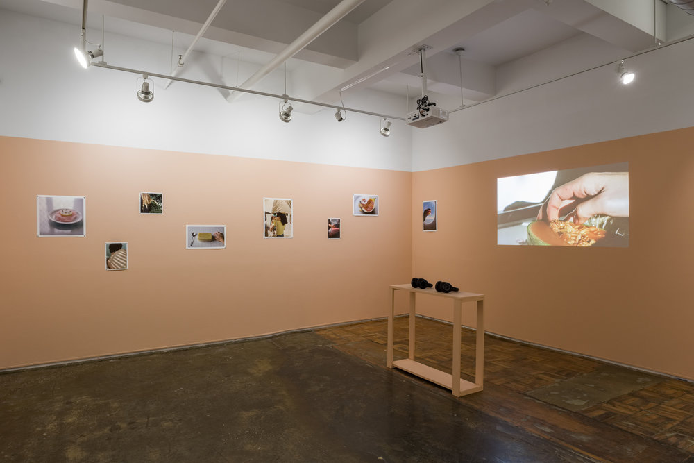 Installation view of  Here, right now.