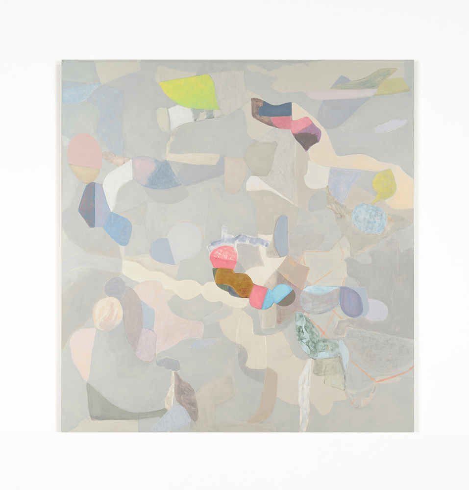 "Traverse 2 , 2019 Oil on canvas, 68"" x 64"" x 1.5"""