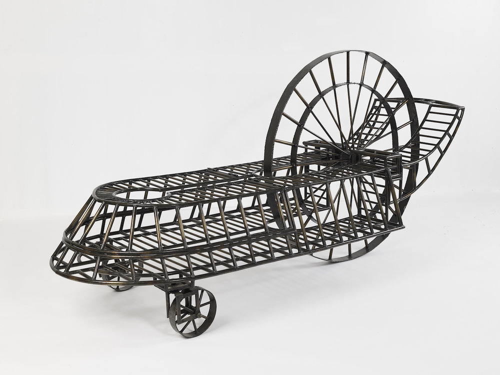 "Carriage , 1979 Steel,  56"" x 115"" x 40"""