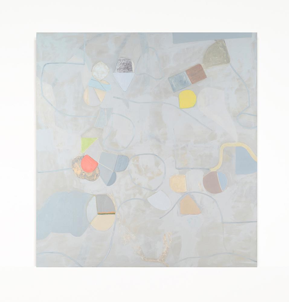 "Remote Sensing , 2019 Oil on canvas, 68"" x 64"" x 1.5"""