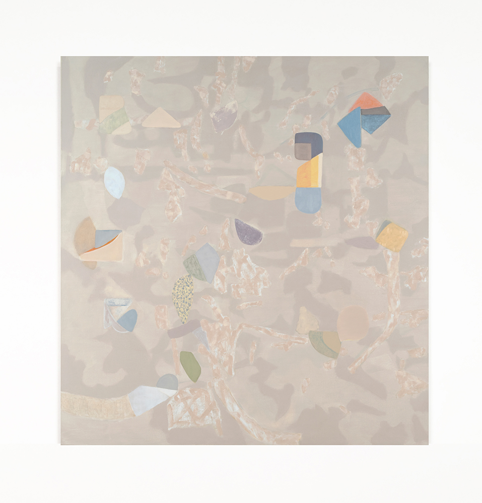 "Hypsometric 2 , 2019 Oil on canvas, 68"" x 64"" x 1.5"""