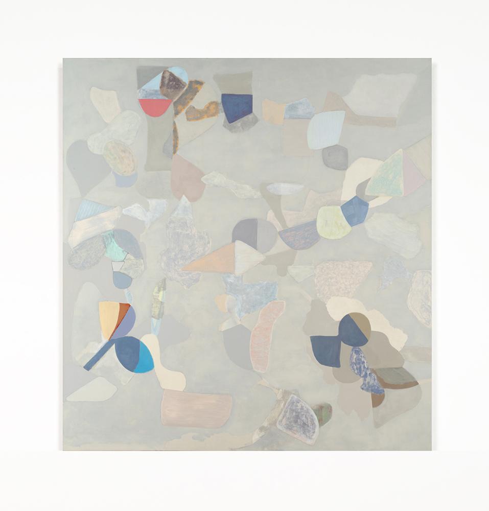 "Traverse 1 , 2019 Oil on canvas, 68"" x 64"" x 1.5"""
