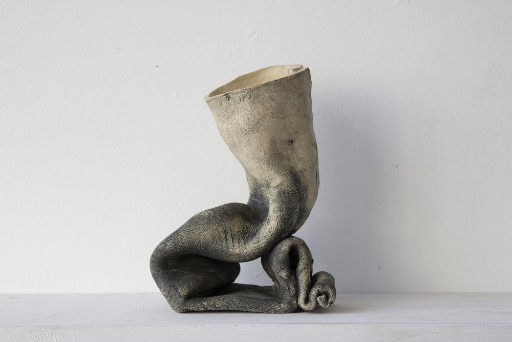 Sitter/Thinker 1 , 2018 Porcelain and underglaze