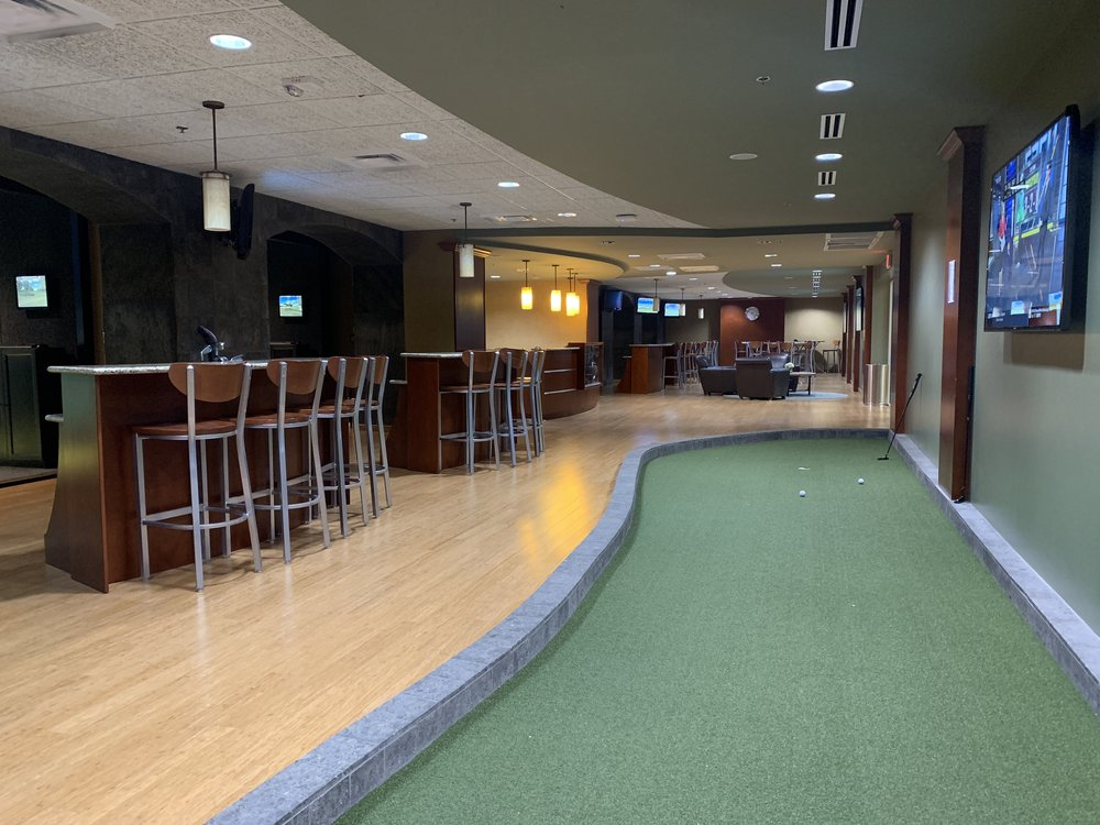 Life Time Golf Center, located inside the St. Louis Park Life Time Athletic, is open to the public and offers 5 FULL SWING, 1 HD GOLF (coming mid-Nov) and food + drinks.