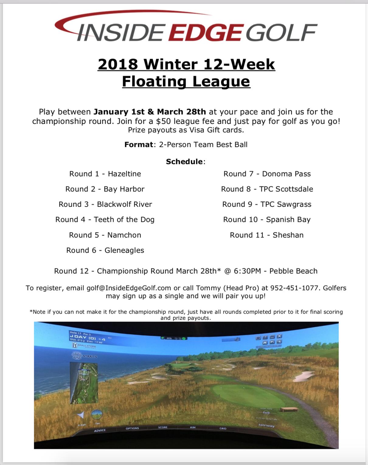 Inside Edge Golf Simulator Winter (January thru March) 12