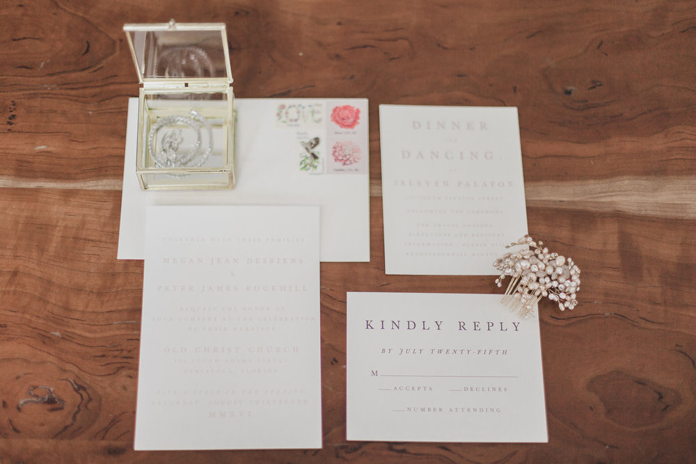 Wedding Stationary Detail Photo