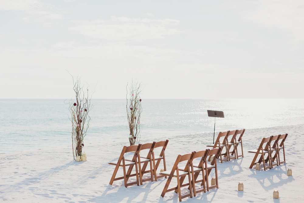 beach wedding on pensacola beach