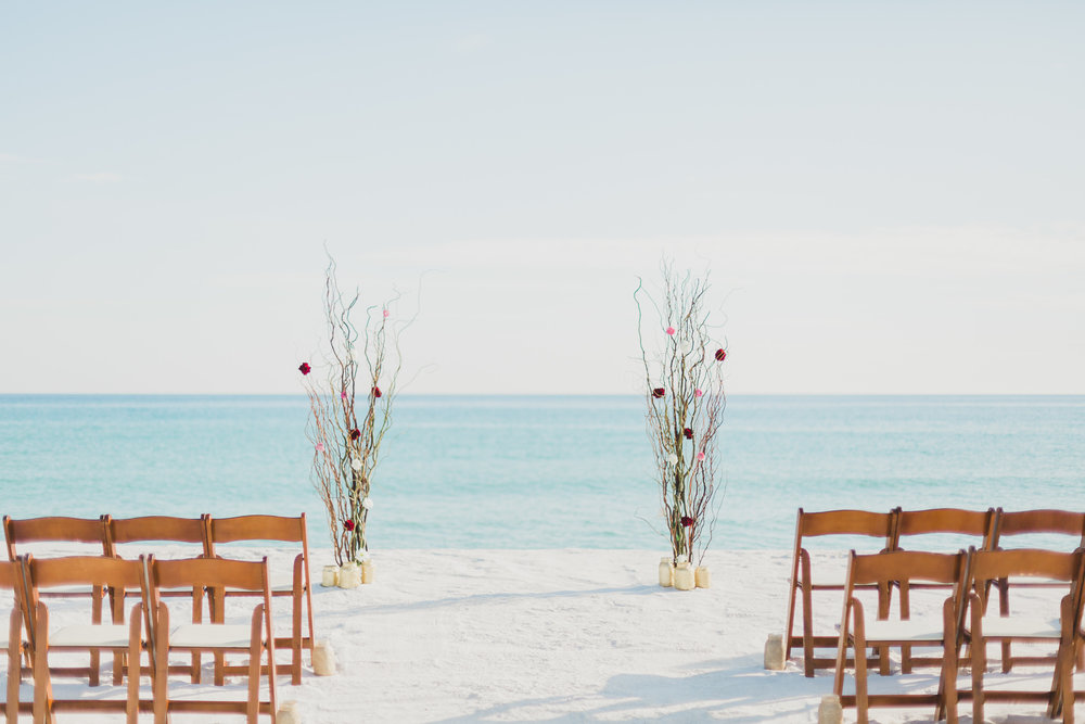 pensacola beach serene occasions arbor for beach wedding