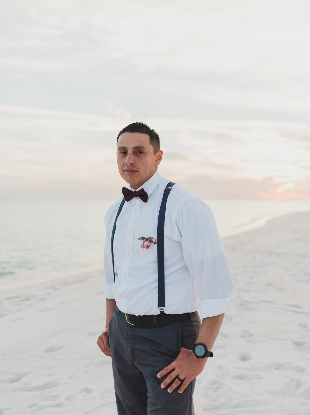 groom portraits on pensacola beach