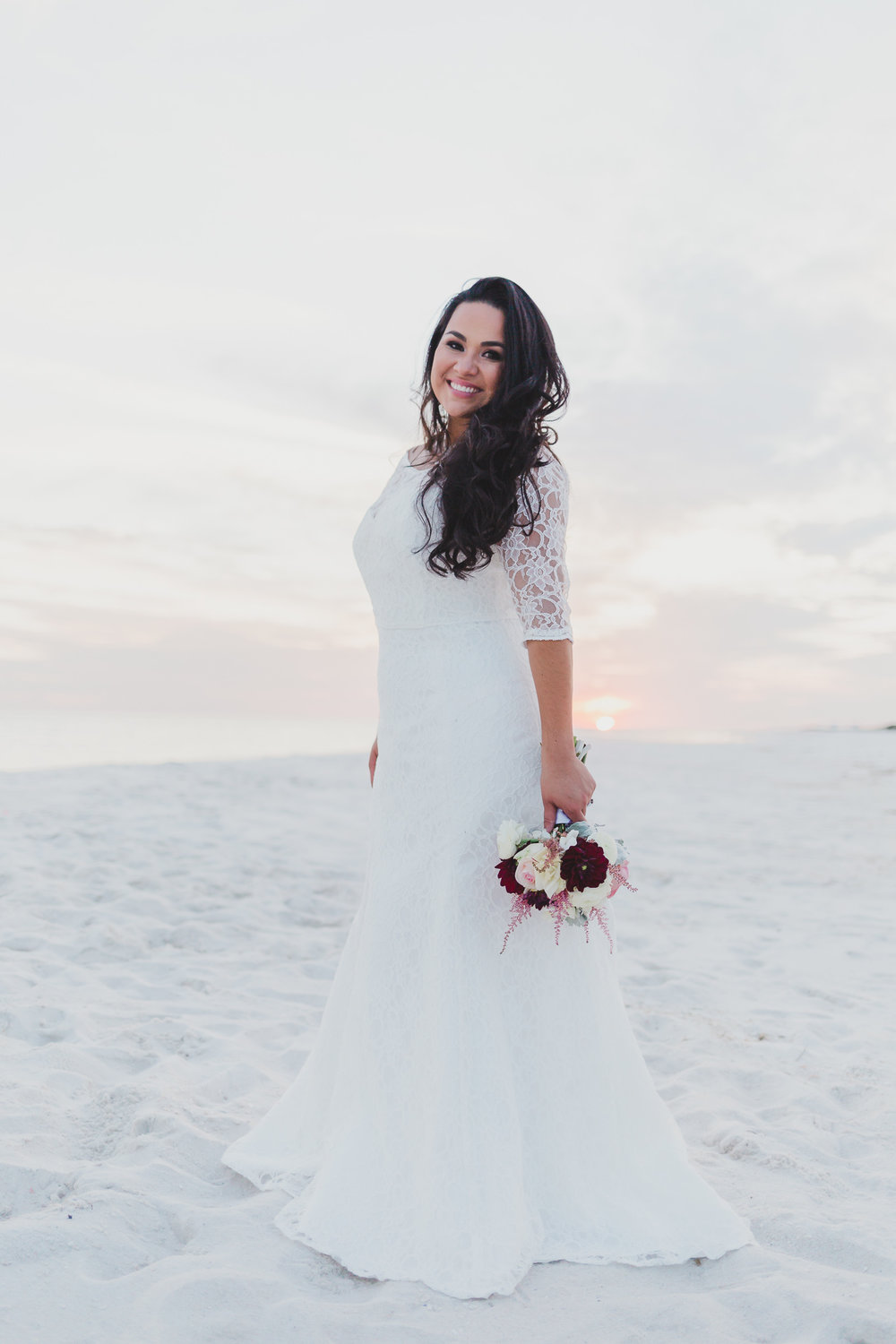 pensacola beach bridal portraits