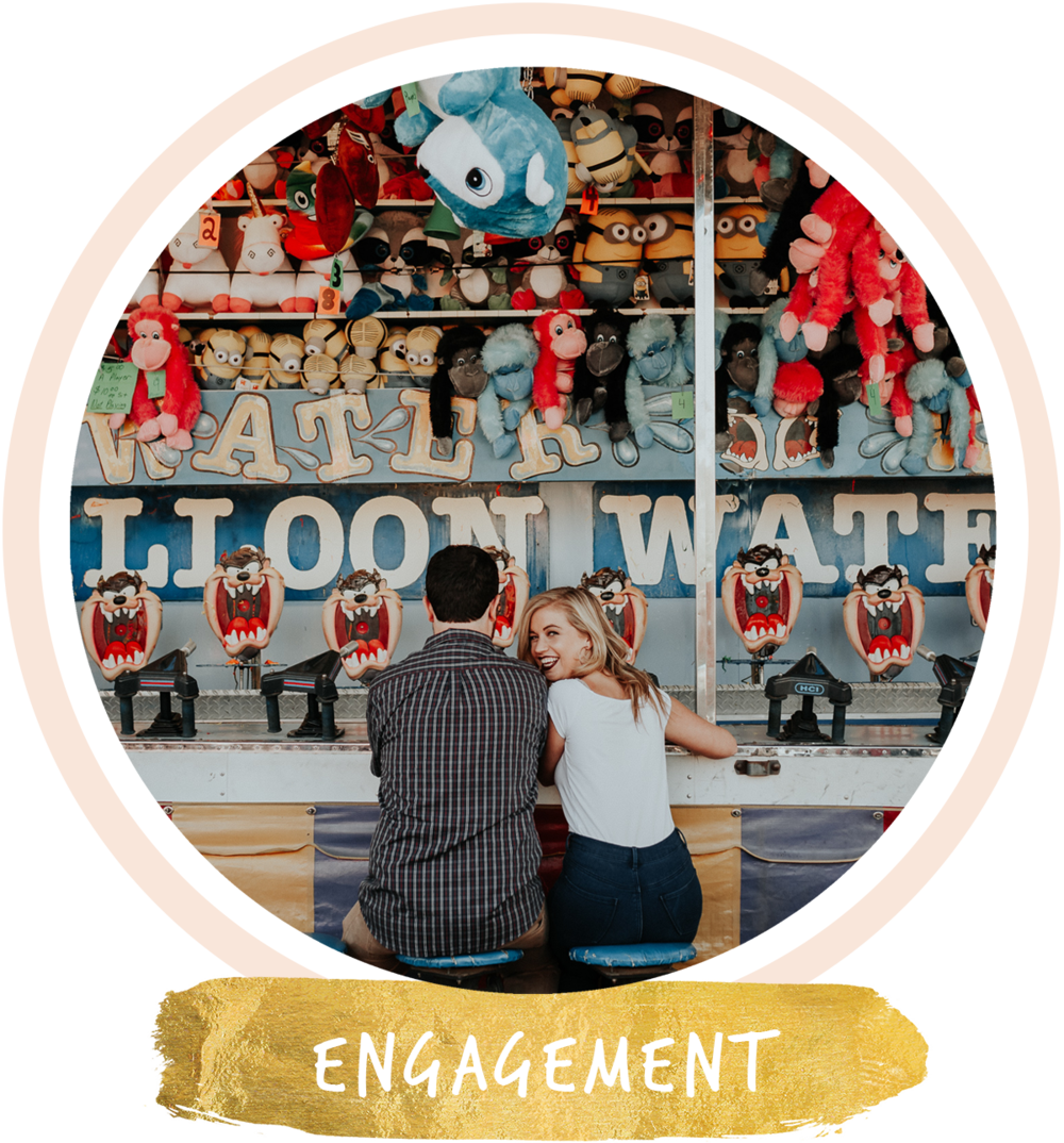 engagement session at foley hot air balloon festival