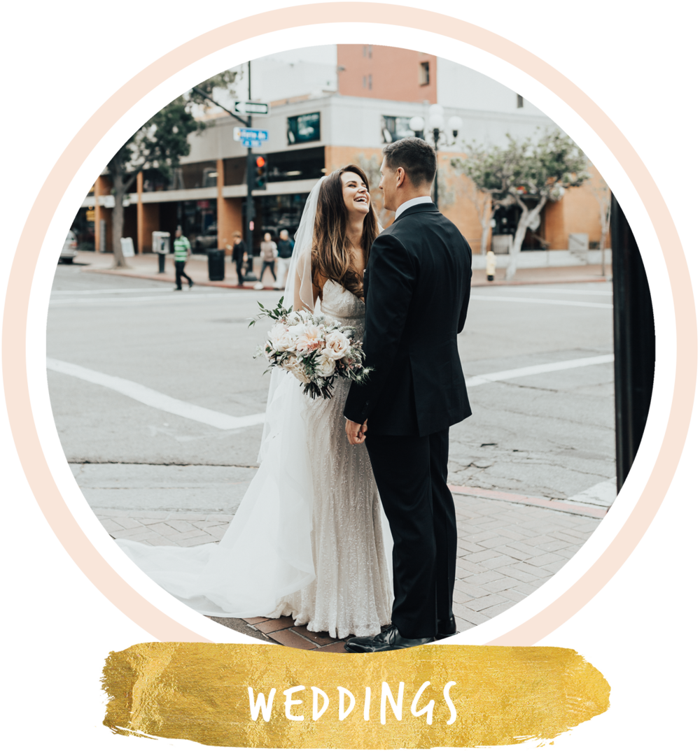 san diego gaslamp quarter wedding portraits