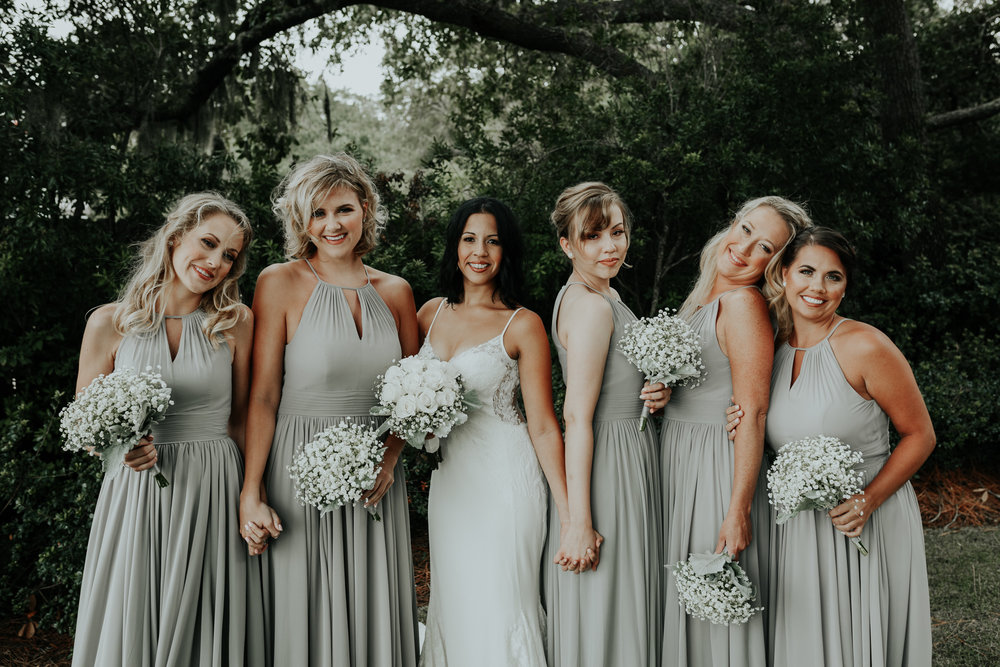 destin bay house sage green bridesmaid dresses