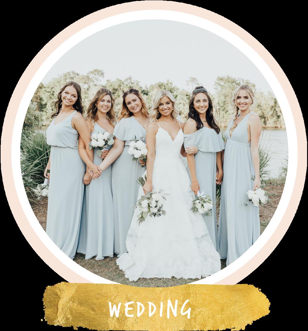 bridesmaids on downtown milton riverwalk