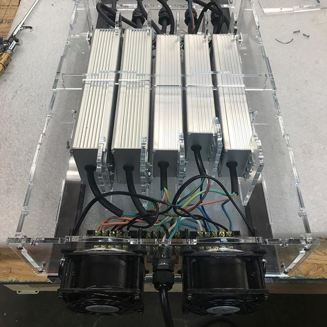 New Power System assembled and ready for shipping! #ledlights #verticalgarden #indoorplants #indoorgarden #led #verticalfarming