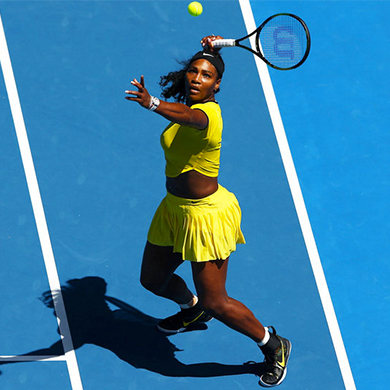 "SERENA WILLIAMS ""Nike Handcrafts Bruce Lee Sneakers For The Queen Of Tennis. Serena William's new signature shoe is inspired by Bruce Lee's classic yellow and black Onitsuka sneakers and kung fu."""