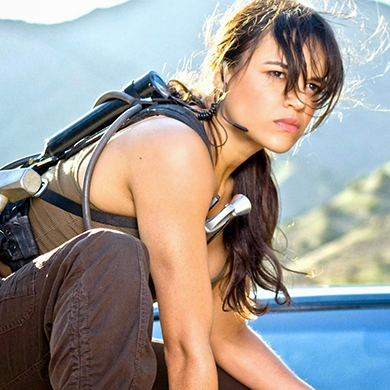 "MICHELLE RODRIGUEZ ""He mortalized confidence, you could see it in his eyes. You could see it in his body movement."""