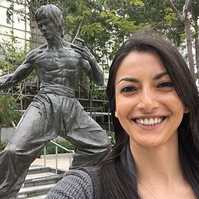 "CHRISTINA N.  ""There is no one cooler than Bruce Lee. I am inspired by his style, his tenacity, and his ability to transcend cultural norms and unite so many different types of people, no matter their perceived differences."""