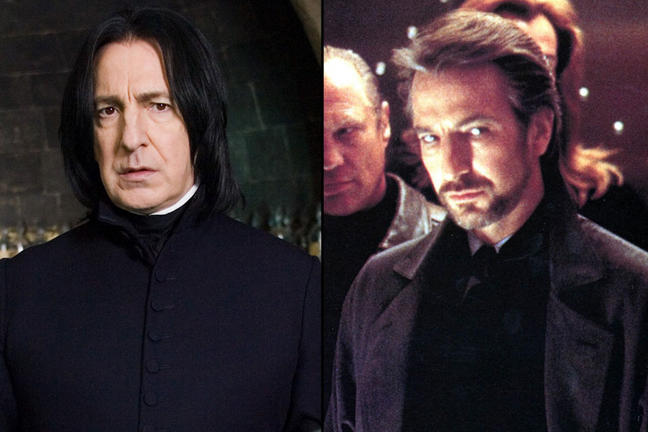 Image result for hans gruber / severus snape