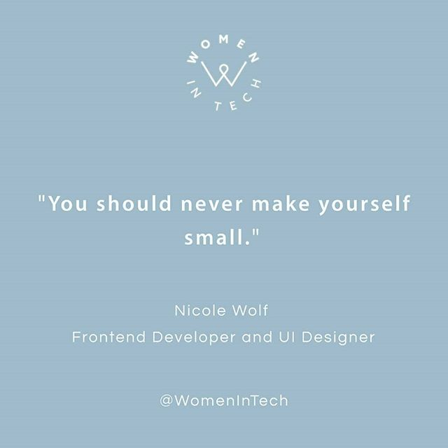 Today's feature: Nicole Wolf (@joeel56). Nicole started coding at 14 and quickly developed a passion for it. At 17, she started working on freelancing projects. After finishing high school, Nicole did a year-long internship at her brother's company, and then got her first job at 18 without a coding degree. On the job, she had to develop websites with Wordpress. Last year, she returned to her brother's agency @8mylez where she specializes in online shops. Check  out her insights in today's story!