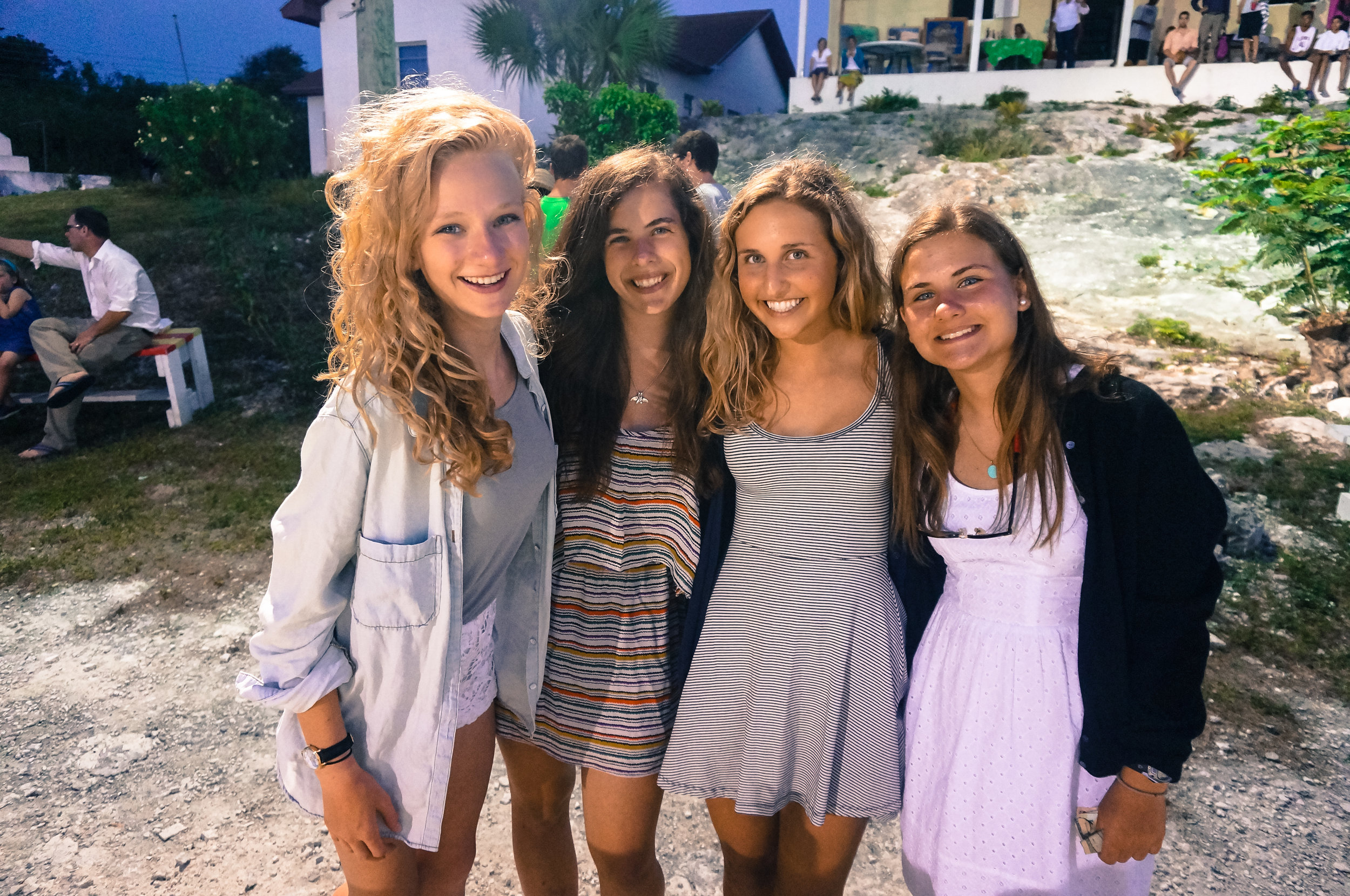 Abby, Julia, Abbe and Robin at the Tarpum Bay Homecoming!
